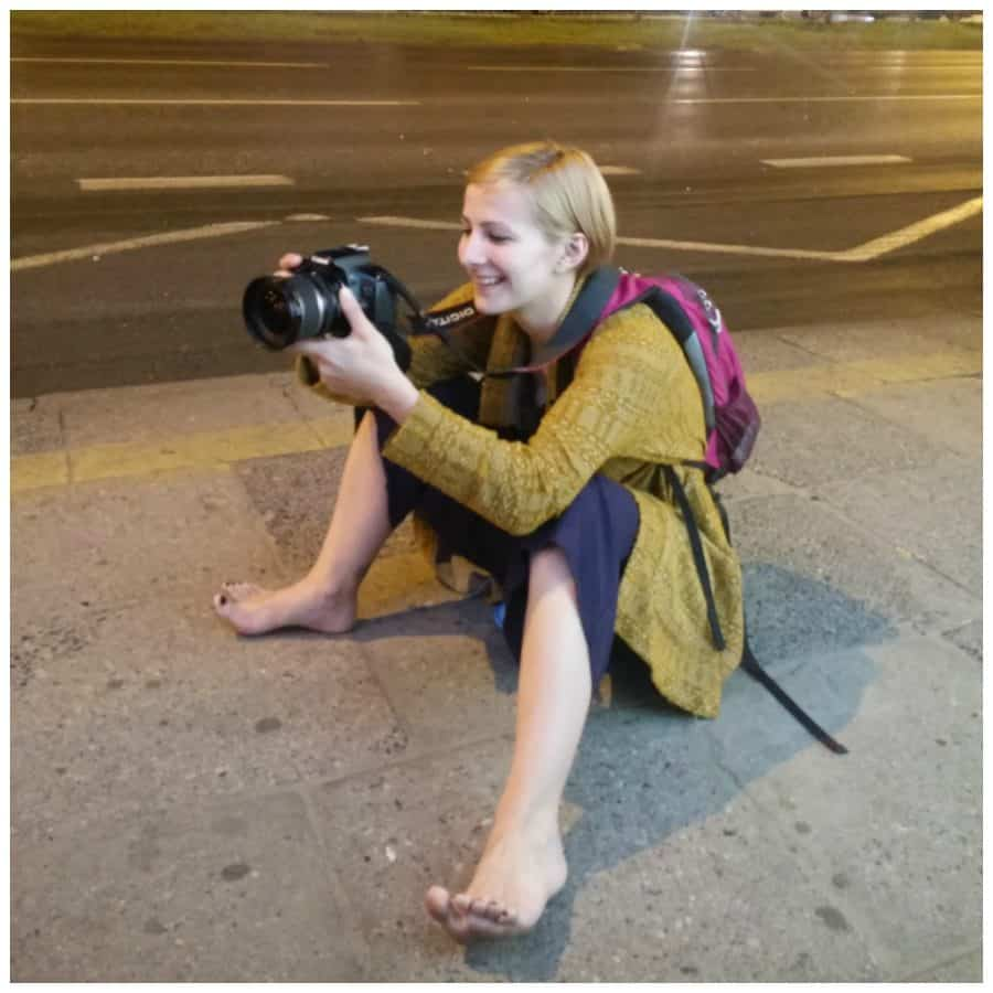 backpacker photographer